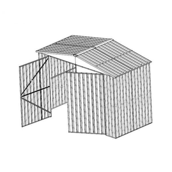 T1140 Garaje Puerta Manual