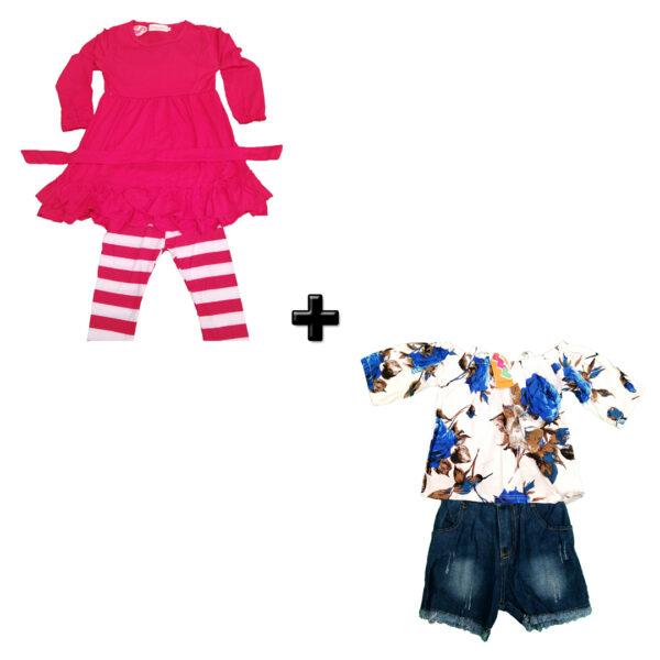 T1310 Vestido Para Niñas – Jean y Vestido